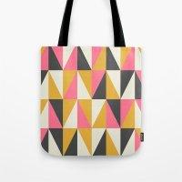 Orange & Grey Tote Bag