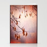 relax-a fall tree Stationery Cards