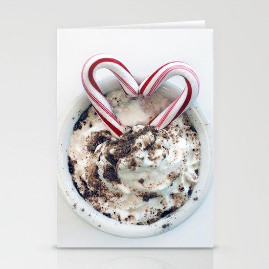 i heart hot chocolate Stationery Card