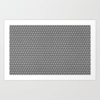 Pencil Sketched Circles Art Print
