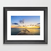 Golden Hour in Waikiki Framed Art Print