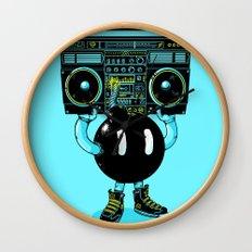 BOOMBOX Wall Clock