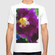 Purple Blaze SMALL White Mens Fitted Tee