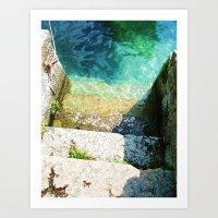 le scale verso il lago Art Print