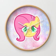 FlutterSHY Galaxy Wall Clock