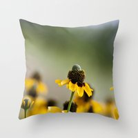 Yellow hats Throw Pillow