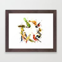 Ghosts Of Gone Wreath Framed Art Print