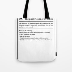 Error 404 Tote Bag