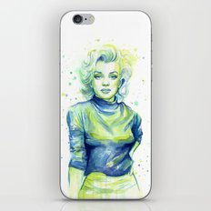 Marilyn Portrait Watercolor Painting iPhone & iPod Skin