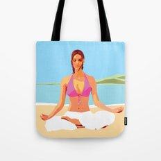 Yoga on the Beach Tote Bag