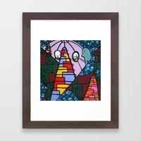 WE MISS YOU HERE in MERMAN LAND Framed Art Print