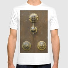 Historic door White SMALL Mens Fitted Tee