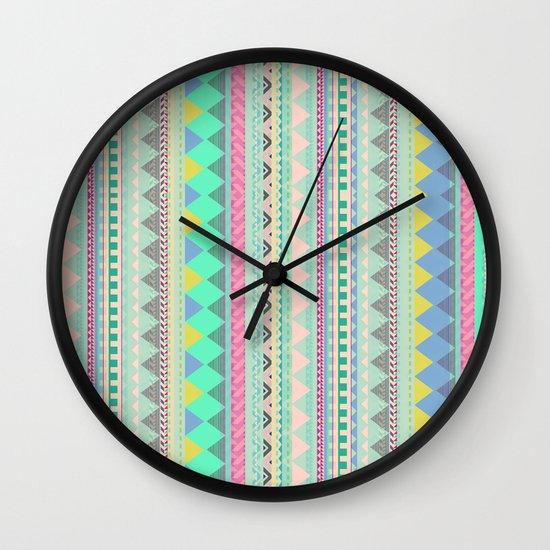 PASTEL AZTEC Wall Clock