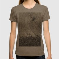 Tidal veins Womens Fitted Tee Tri-Coffee SMALL