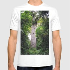 The World's Oldest Wood, Ancient Kauri White SMALL Mens Fitted Tee