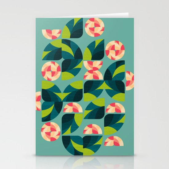 Wild Roses Stationery Card