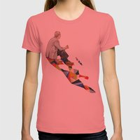 Walking Shadow, Lunch Womens Fitted Tee Pomegranate SMALL