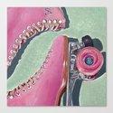 """Pink Skate"" Canvas Print"