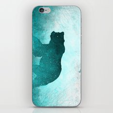 Teal Ghost Bear iPhone & iPod Skin