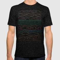 Linear Landscape Mens Fitted Tee Tri-Black SMALL