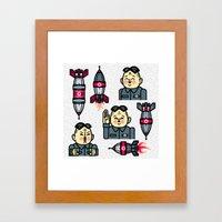 Kim Jong Un Rockets Framed Art Print