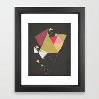 Exploding Triangles//Four Framed Art Print