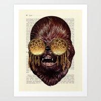 CHEWBACCA Walking Carpet… Art Print