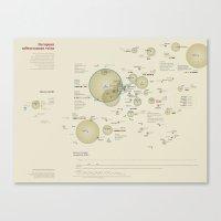 European subterranean veins (Visual Data 04) Canvas Print