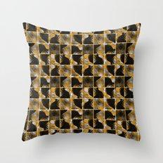 scribble (yellow) Throw Pillow