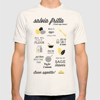 Salvia Fritta Mens Fitted Tee Natural SMALL