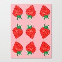 Strawberry Motif, 2013. Canvas Print