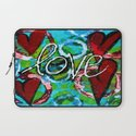 Four Hearts of Love Laptop Sleeve