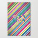 Color Stripes Canvas Print