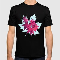 Maple Tree Stars Mens Fitted Tee Black SMALL