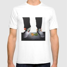 OUT OF BODY SMALL White Mens Fitted Tee
