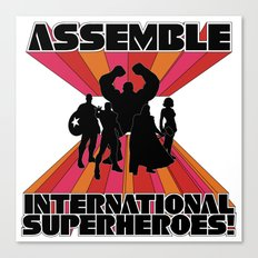 International Superheroes Canvas Print