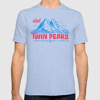 Visit Twin Peaks (hot Pi… Mens Fitted Tee Tri-Blue SMALL