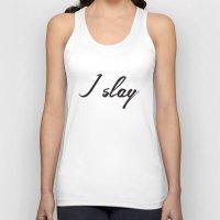 I Slay ( Gold Typography… Unisex Tank Top