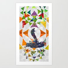 Chinese Lunar New Year and 12 animals  ❤  The SNAKE 蛇 Art Print