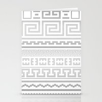 Greek   White Stationery Cards