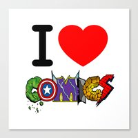 I LOVE COMICS Canvas Print