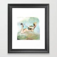 Not So Flat, Flying Framed Art Print