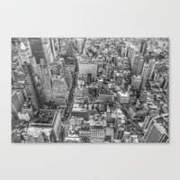 New York Manhattan buildings photography Canvas Print