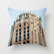Looking Up on the streets in NYC Throw Pillow