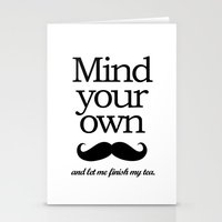 Mind your own... Stationery Cards