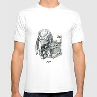 Predator. Mens Fitted Tee White SMALL