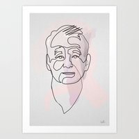 One Line Bill Murray Art Print