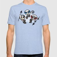 Power War Boys Mens Fitted Tee Tri-Blue SMALL