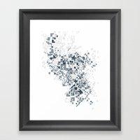 Broken And Pixels  Framed Art Print