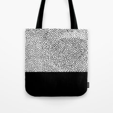 Dots and Black Tote Bag